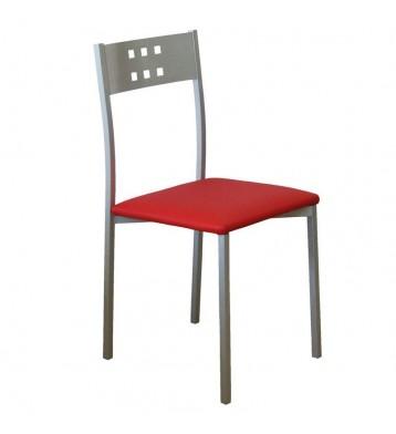 Pack 4 sillas Costa cocina rojas