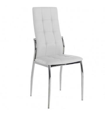 Pack 4 sillas blancas comedor Laci polipiel