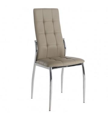 Pack 4 sillas Laci salón polipiel camel