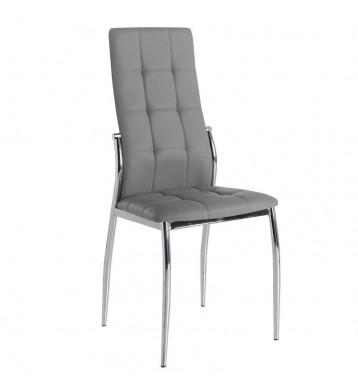 Pack 2 sillas Laci comedor polipiel gris