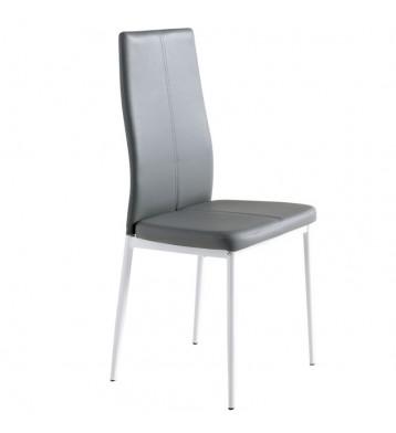 Pack 2 sillas comedor Sora polipiel gris