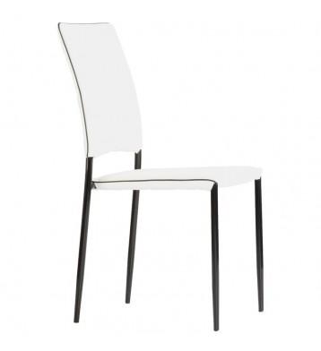 Pack 4 sillas Aran comedor blanco negro