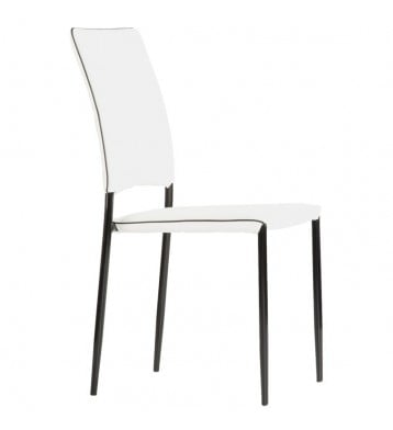 Pack 2 sillas Aran salón blancas y negras