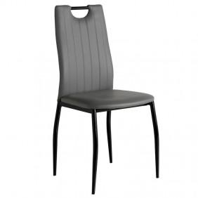Silla de Diseño Berriz gris negro comedor 95x42x55