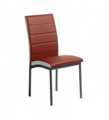 Pack 4 sillas comedor rojo y blanco Meli