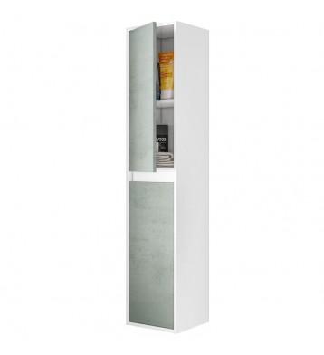 Columna baño blanca cemento Zenda 30x26x140