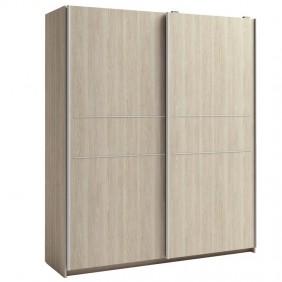Armario puertas correderas Cádiz color sable detalle decorativo 182x201x54 cm
