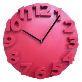 Reloj para colgar rojo.