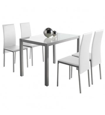 Conjunto mesa cristal + 4...