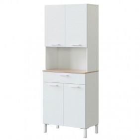 Mueble auxiliar cocina alto Yuka Blanco 186x72x40