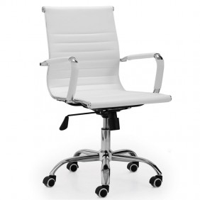Silla oficina altura regulable blanca