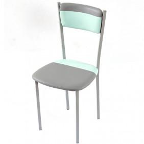Pack 2 sillas poliuretano menta/gris