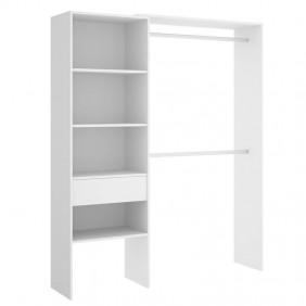 Armario vestidor habitación Suit blanco 160-110 cm