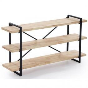 Estanteria Plank 3 roble nordish salvaje industrial 140x40x73