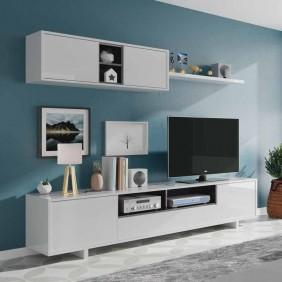 Mueble de salón moderno blanco Belus