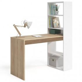 Mesa de escritorio con estantería Duplo 144x120x53 cm
