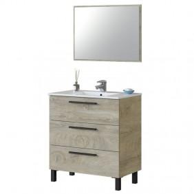 Mueble baño Athena 3 cajones 80x45 cm LAVAMANOS OPCIONAL
