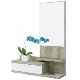 Recibidor Dahlia color roble y blanco 116x81x29 cm