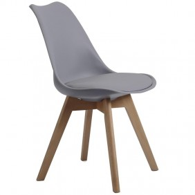 Silla comedor o salon Bistro nórdica color gris 84x48x54