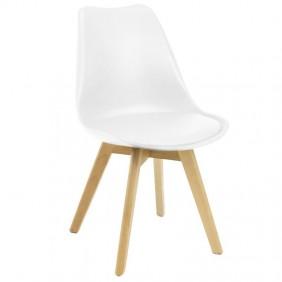 Silla Nordic blanca diseño nórdico 83x49x56