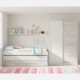 Conjunto muebles habitación juvenil Elliot con somieres
