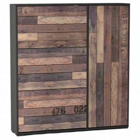 Mueble zapatero 3 puertas abatibles 1 armario 130x120x24cm