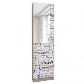 Mueble Zapatero alto con espejo pasillo 180x50x20 cm
