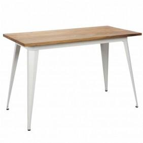 Mesa cocina blanca estilo industrial 120x75x60 cm