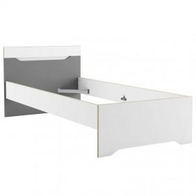 Cama juvenil Genius color blanco y gris 90x190-200 cm