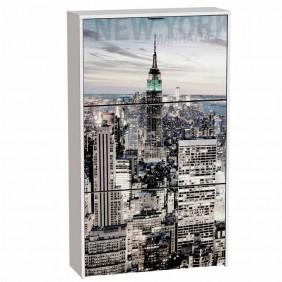 Zapatero 3 puertas Manhattan 117x60x24 cm