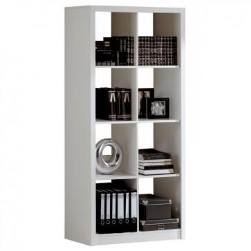Estantería alta cubos blanca Studio 182x93x32 cm