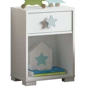 Mesita noche infantil Star dormitorio 56x40x33 cm