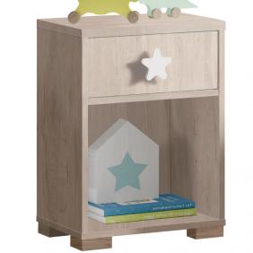 Mesita noche infantil Star roble 40x56x33 cm