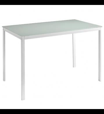 Mesa cocina cristal blanca...