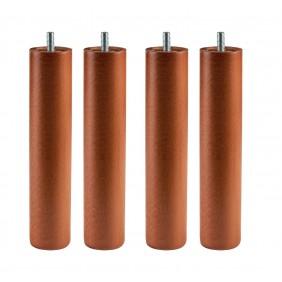 Pack 4 patas redondas madera Cerezo