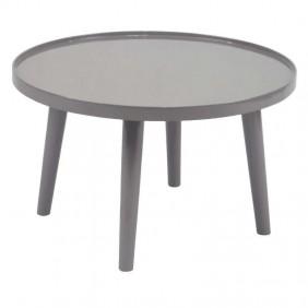 Mesa redonda de centro o auxiliar color gris