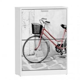 Zapatero armario bici 2 portones 80x60x24 cm