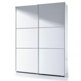 Armario blanco puertas correderas brillo 150x200