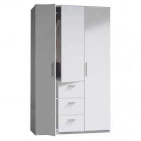 Armario dormitorio blanco brillo 200x120x52
