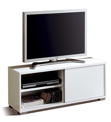 Mesa de TV Taiga Blanco brillo