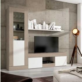 Pack salón comedor Argos mesa tv+vitrina alta+estante