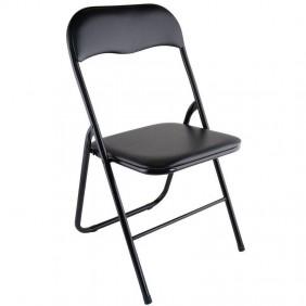 Pack 6 sillas Plegables Color Negro 80x49x44