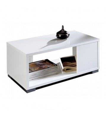 Mesa de centro Taiga blanca estilo moderno 35x80x50 cm