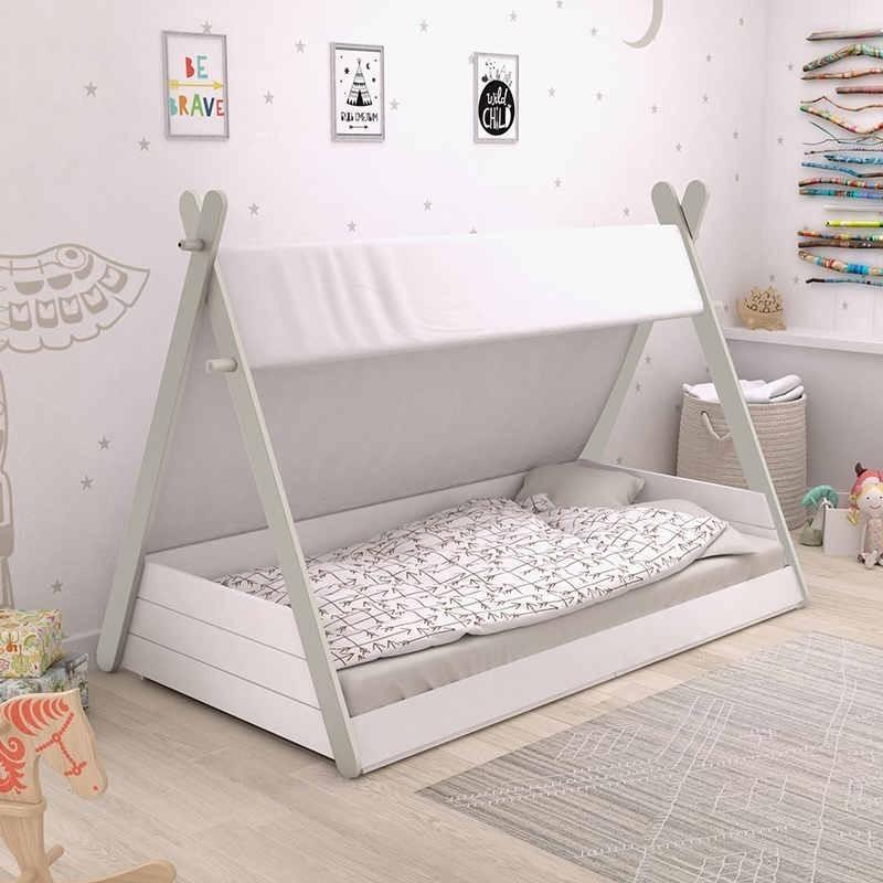 Cama infantil Totem diseño tienda india con somier medida 90x200 cm