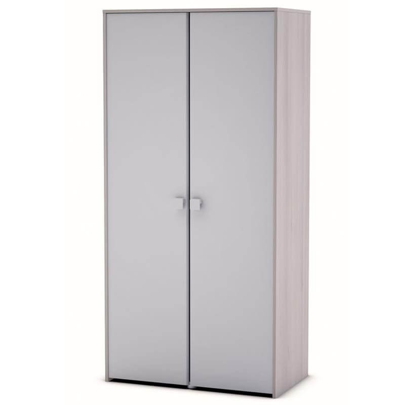 Armario Game 2 puertas color blanco brillo y acacia 89x179x50 cm