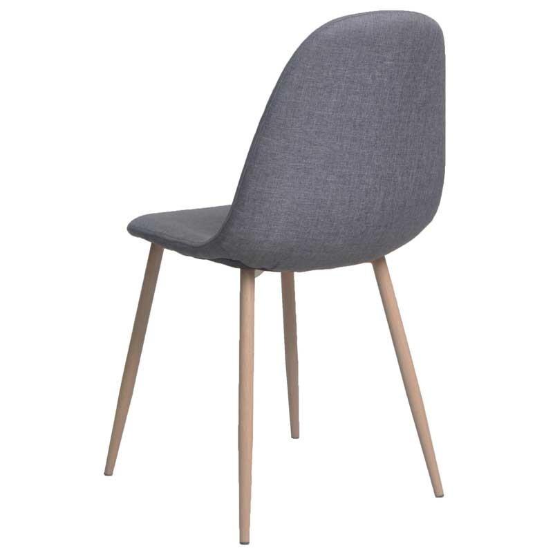 Pack 2 sillas Iena pata metalica color gris