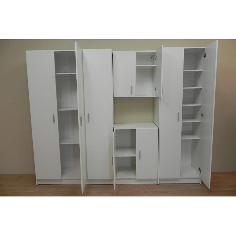 0069c160059 Conjunto de armarios auxiliares color blanco - Miroytengo.es