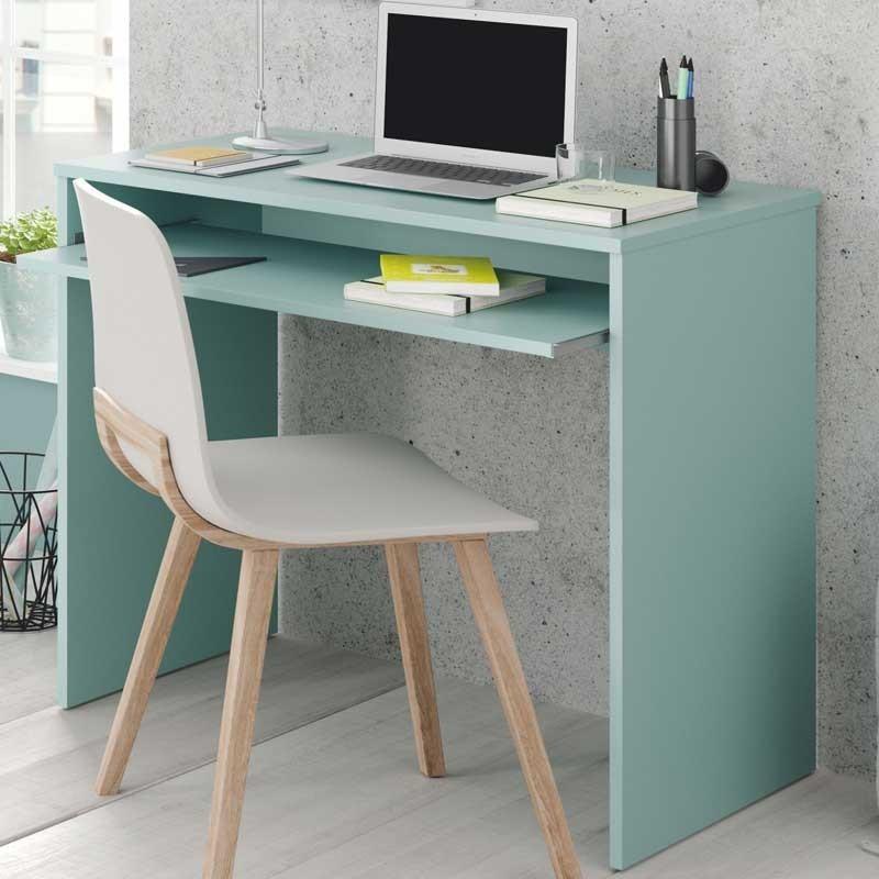 Mesa escritorio color verde dormitorio juvenil 90x54x79 cm