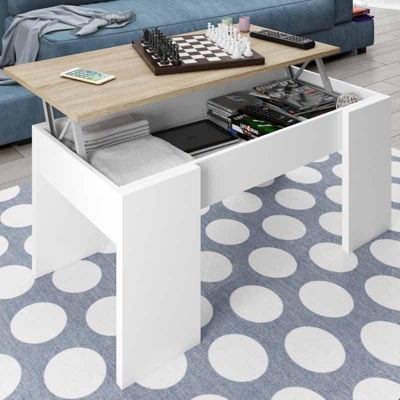Pack salon color blanco y roble diseño nordico