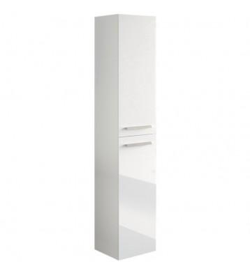 Columna baño Aruba blanco brillo 2 puertas 150x30x25 cm